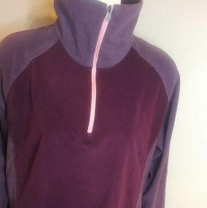 Columbia purple two tone fleece top